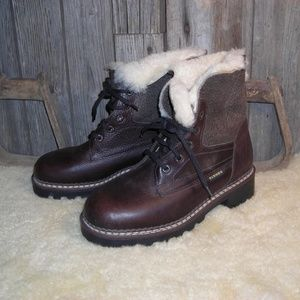 Blondo leather shearling winter boots size 8